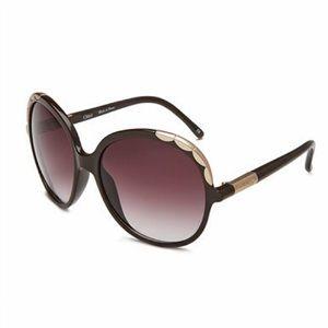 Chloe Ernie scalloped sunglasses